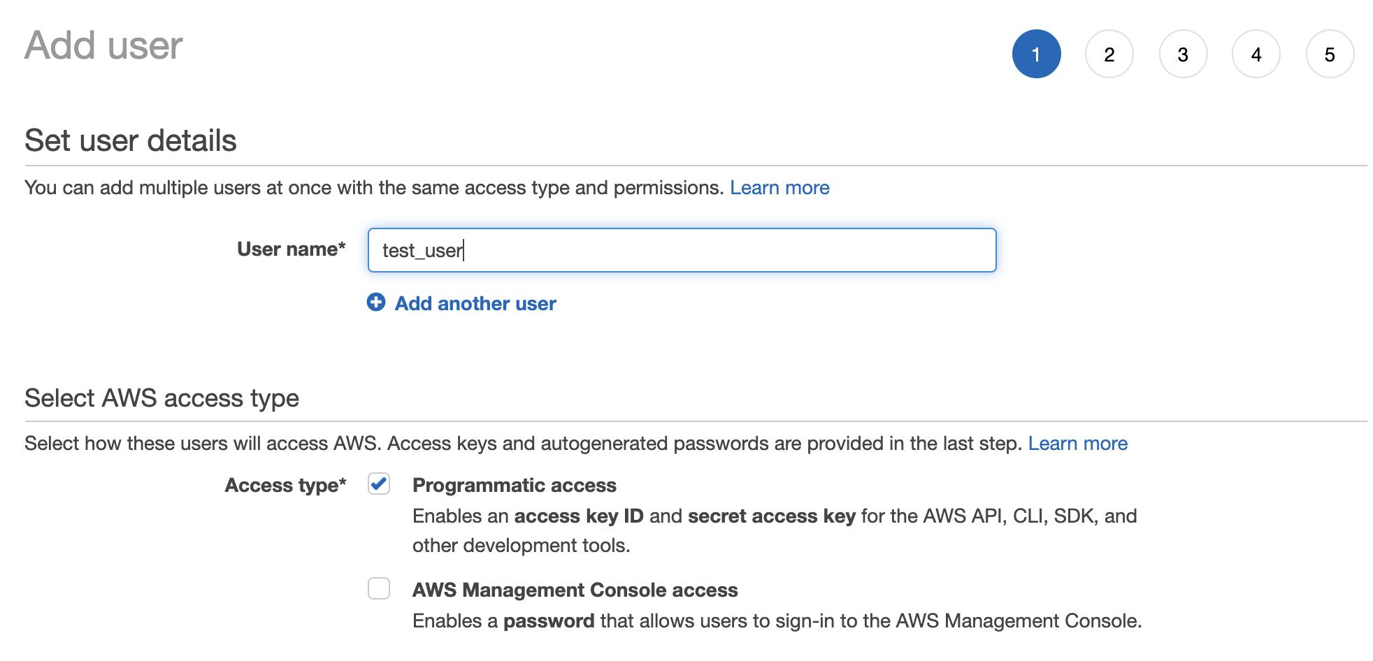 AWS IAM User Details