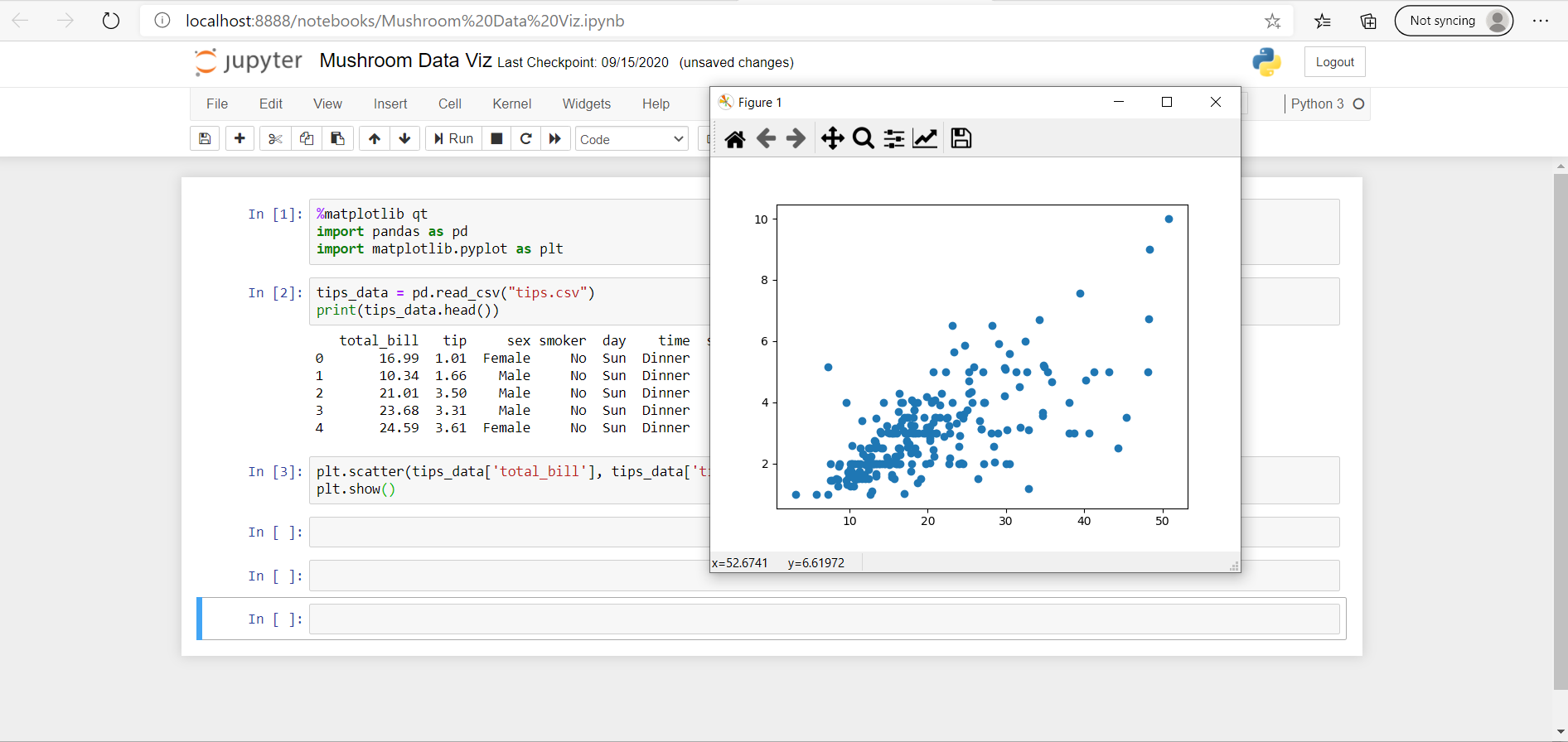 jupyter notebook qt plot externally matplotlib