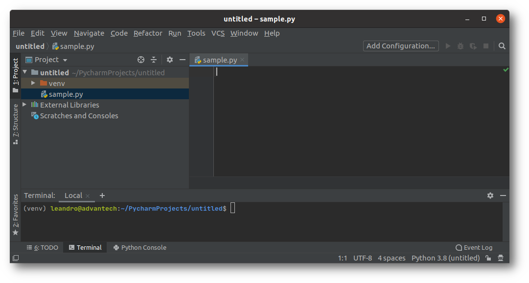 PyCharm's automated python environment management