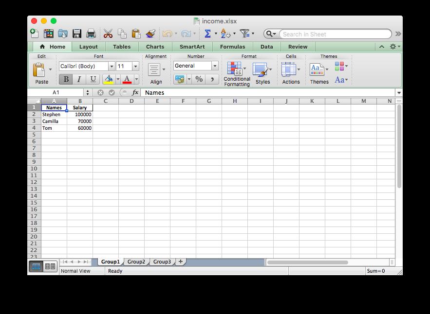 multi-sheet excel file