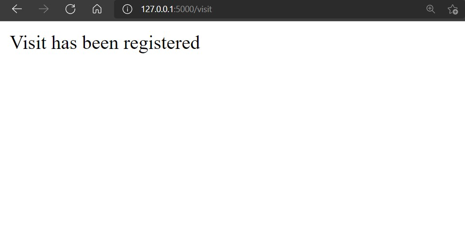 Screenshot of initial website visitor acknowledgement page