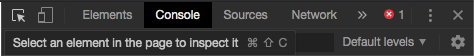 """The """"Console"""" tab in our Developer Console"""