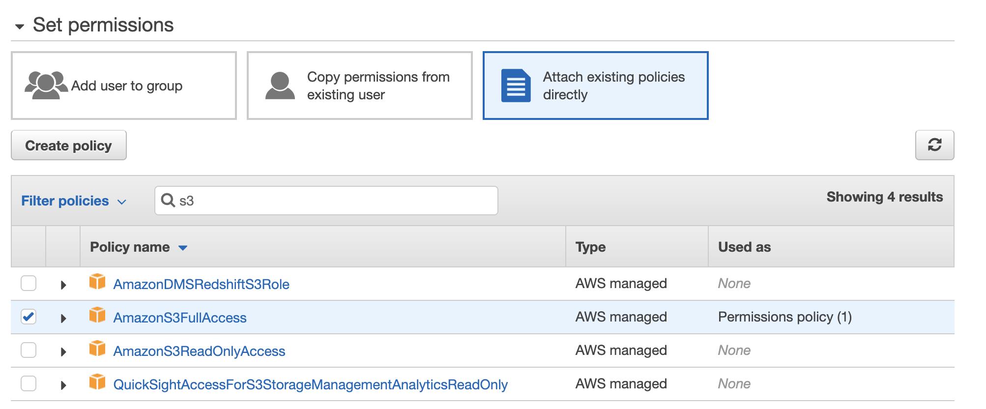 AWS IAM S3 Permissions